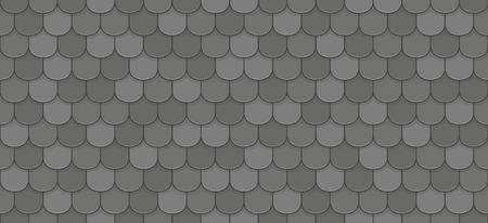 Schwarze Dachziegel nahtlose Muster.