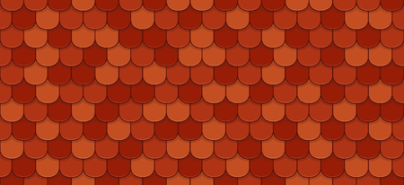 Red roof tiles seamless pattern.
