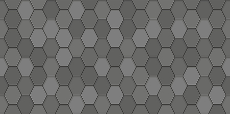 Black roof tiles seamless pattern.