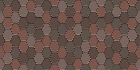 Old roof tiles seamless pattern. Illusztráció
