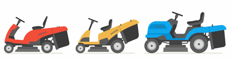 Set Traktor Rasenmäher