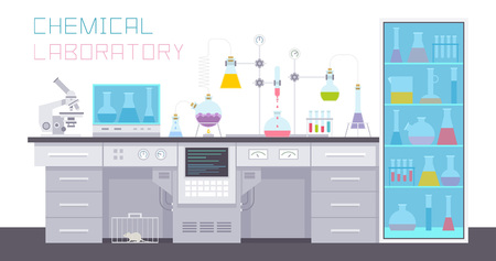 Chemical Laboratory Illustration