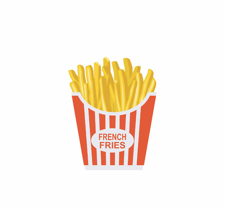 Cartoon illustration of French fries