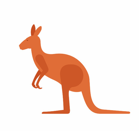 Kangaroo icon on white background, vector illustration. Illustration