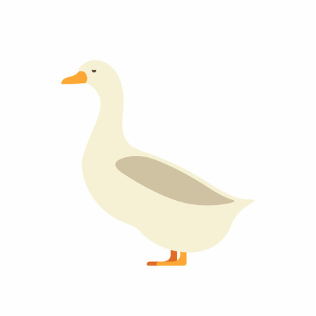 Duck icon on white background, vector illustration.