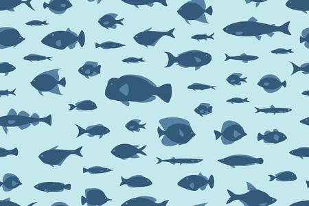 peces de patrones sin fisuras Ilustración de vector