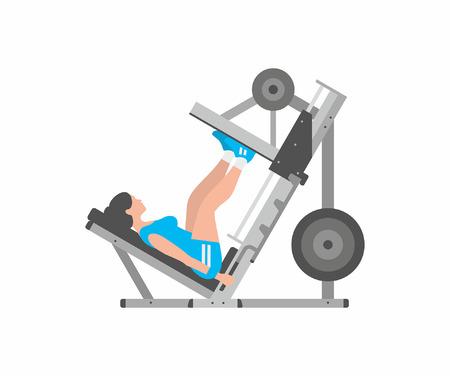 Woman doing leg presses