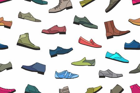 화려한 신발 원활한 패턴