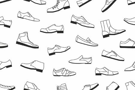 신발 원활한 패턴 스톡 콘텐츠 - 85858782