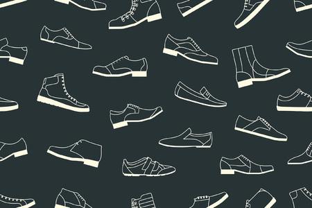 신발 원활한 패턴 일러스트