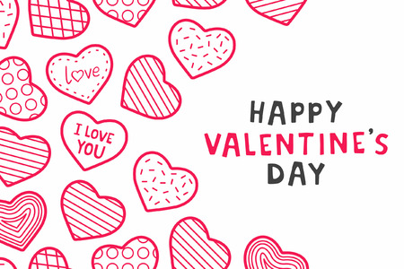Happy Valentines day. background with hearts 向量圖像