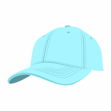 Blue Baseball Cap isolated on white background