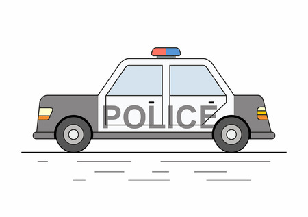police car isolated on white background