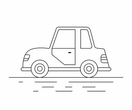 Small car line icon. Illustration