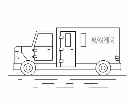 Armored truck line icon. Illustration