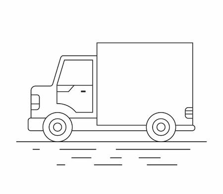 Delivery van line icon. Illustration