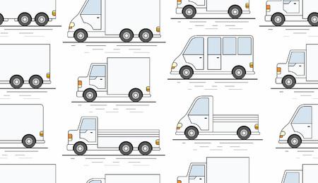 Delivery van seamless pattern.