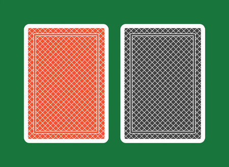 Playing Card Back, red and black