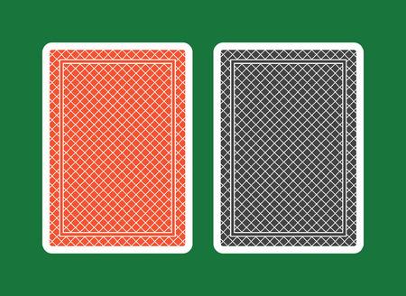 Spielkarte zurück, rot und schwarz