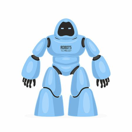 Blue robot. isolated on white background