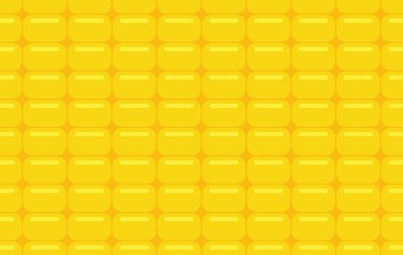 Seamless pattern with corn texture, patterned yellow background, flat style