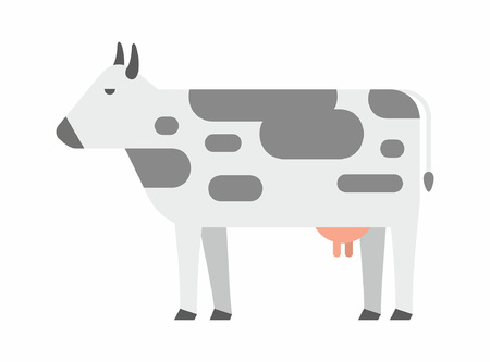Cow icon. flat style. isolated on white background