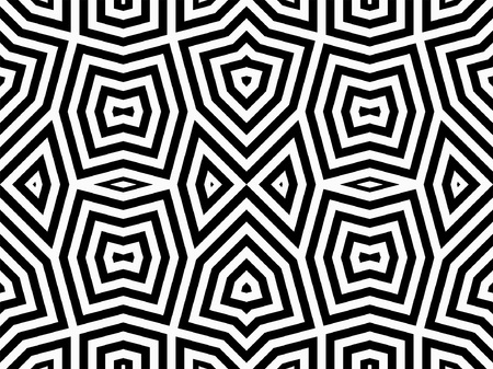 Abstract geometric pattern with lines. Monochrome ornament. isolated on white background