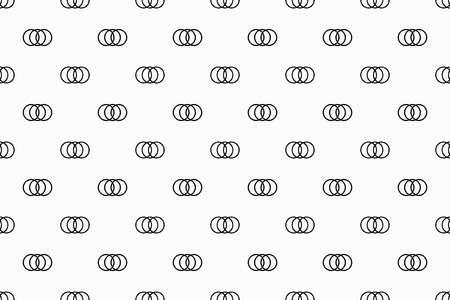 Geometric pattern with small circles. Monochrome ornament. isolated on white background Illustration
