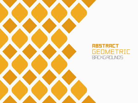 Abstract geometric background with yellow rhombuses. Colorful ornament. isolated on white background Foto de archivo - 102635064