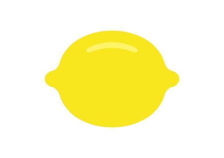 Lemon. flat style. isolated on white background