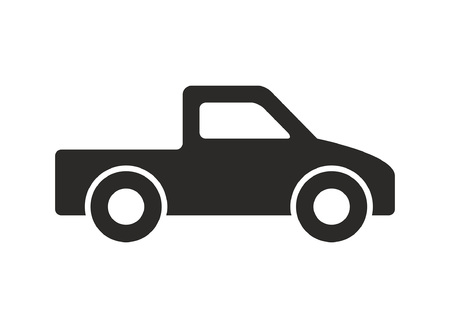 Truck icon, Monochrome style. isolated on white background  イラスト・ベクター素材
