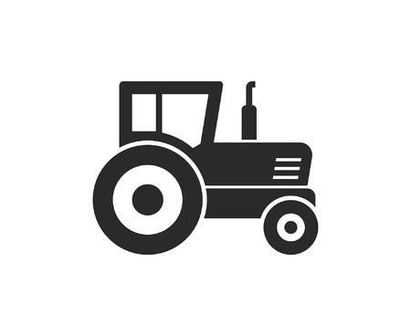 Tractor icon, Monochrome style. isolated on white background Çizim