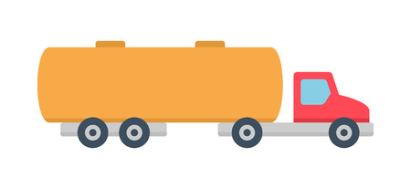 Tanker truck icon, Flat style. isolated on white background