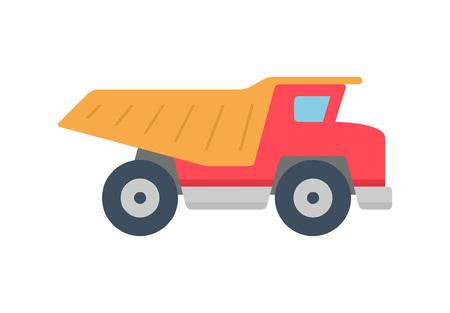 Dump truck icon, Flat style. isolated on white background
