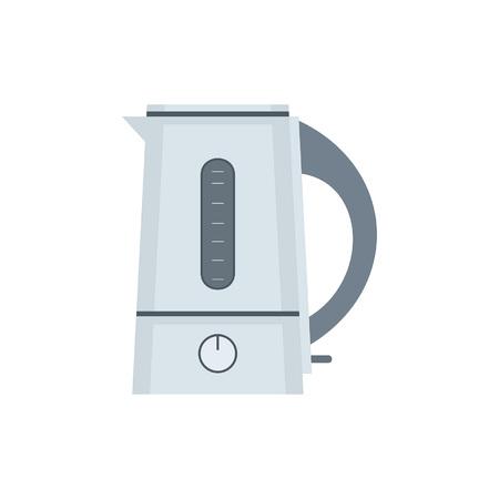 Elektrische ketel. vlakke stijl. geïsoleerd op een witte achtergrond Vector Illustratie