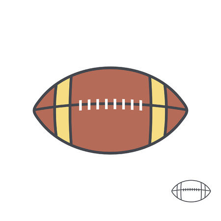 American football ball. line style. isolated on white background Illustration
