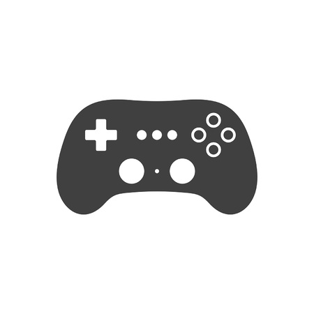 Video game Joystick icon. Silhouette Black. isolated on white background