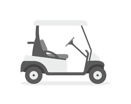 Carro de golf. estilo plano. aislado sobre fondo blanco