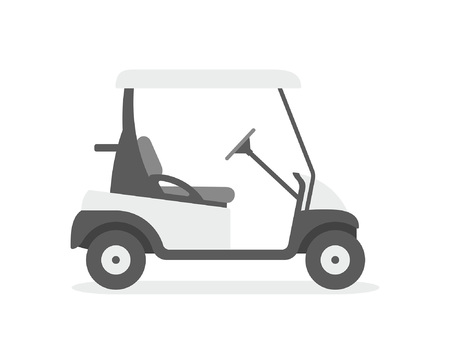 Golf cart. flat style. isolated on white background