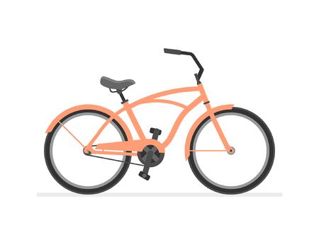 Cruiser Bike isoliert auf weißem Hintergrund Vektorgrafik
