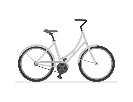Dutch Bike isolated on white background Illustration
