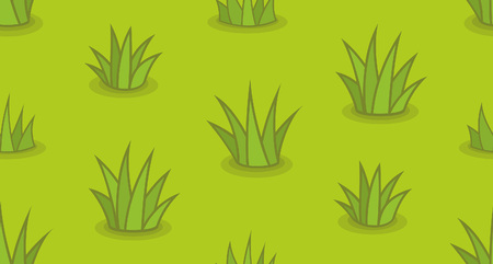 Seamless pattern with grass. isolated on green background Ilustracja