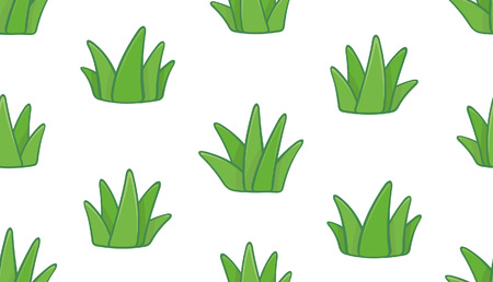 Seamless pattern with grass. isolated on white background Ilustracja