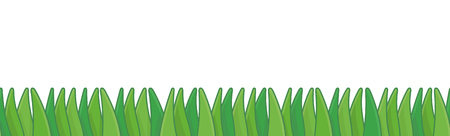 Green Grass Border. Seamless pattern. isolated on white background