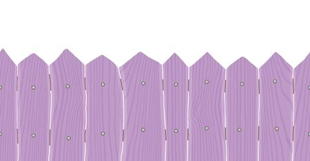 Seamless Wood Fence. isolated on white background