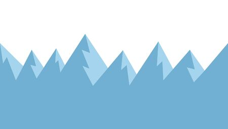 Seamless mountains in cartoon style. Game graphic Çizim