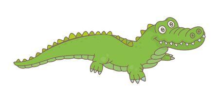 Crocodile. isolated on white background Vektorové ilustrace