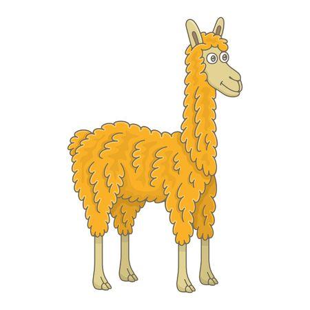 Llama. isolated on white background Ilustração Vetorial