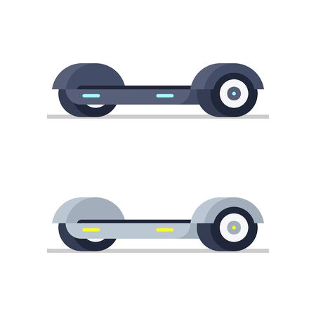 Two Electric hoverboard. isolated on white background