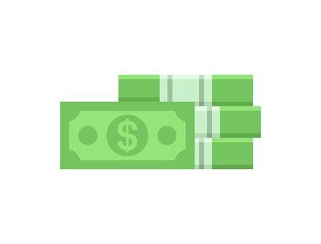 Pack of dollars. isolated on white background Illusztráció